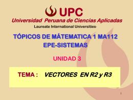 vector en r 3 - Universidad Peruana de Ciencias Aplicadas