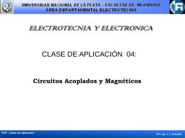Circuitos Acoplados y Magnéticos Clase de Aplicación 04: contenido