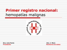 Registro nacional hemopatías malignas