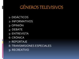 GENEROS TELEVISIVOS