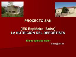 PROXECTO SAN (IES Espiñeira- Boiro) A NUTRICIÓN DO