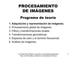 TEMA 1. Adquisición y Representación de Imágenes