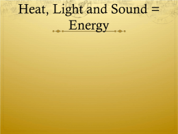 Heat, Light and Sound