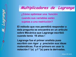 Multiplicadores de Lagrange - U