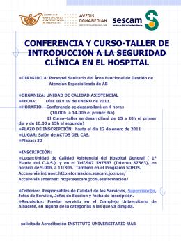 Presentación de PowerPoint - Complejo Hospitalario Universitario