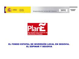Datos del Fondo Estatal de Inversión Local en Castilla y León
