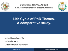 Life Cycle of PhD Theses. A comparative study.