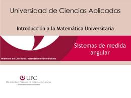 Sistemas de medida - Universidad Peruana de Ciencias Aplicadas