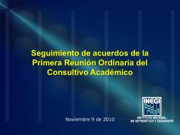 Seguimiento de acuerdos de la sesión anterior Gerardo Leyva Parra
