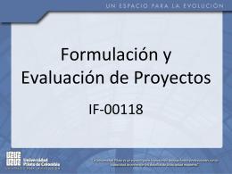1. Formulación y Evaluación Proy