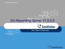 Recording Server