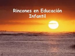 Rincones en Educación Infantil