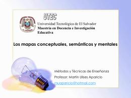 Los mapas conceptuales, semánticos y mentales