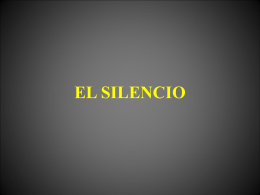 EL SILENCIO - WordPress.com