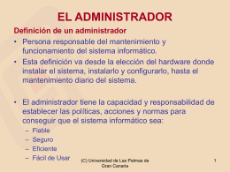 administrador - Servidor de Información de Sistemas Operativos