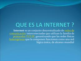 PRESENTACION DE INTERNET