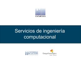 Servicios en Ingeniería Computacional
