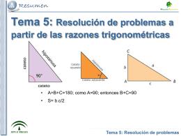 Tema 4: Triángulos Rectángulos