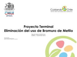 Proyecto Terminal Eliminación del uso de Bromuro de Metilo