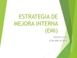 ESTRATEGIA DE MEJORA INTERNA (EMI)
