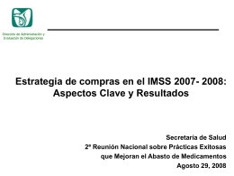 La estrategia de compra del IMSS en los últimos dos años