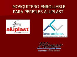 Presentación Mosquitero Enrollable