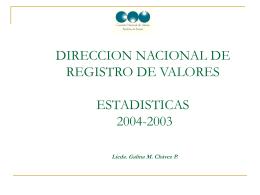 comision nacional de valores direccion nacional de registro de