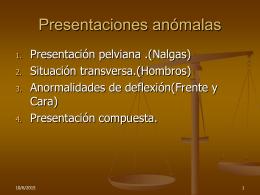 presentaciones anómalas 2012