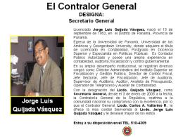 secretaría - Contraloría General de la República