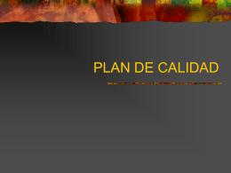 PLAN DE CALIDAD TURURAL