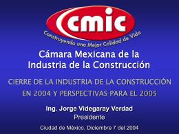 cierre de la industria de la construcción en 2004 y perspectivas para