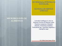MICROBIOLOGÍA DE ALIMENTOS - FCQ