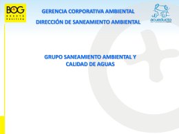 Diapositiva 1 - Acueducto de Bogotá