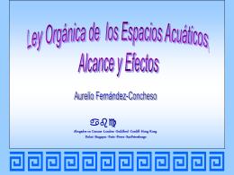 Ley Orgánica de los Espacios Acuáticos 2001.