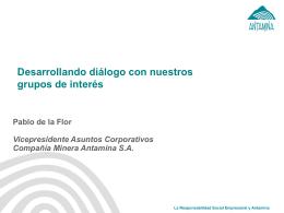 El Fondo Minero Antamina - Grupo de Diálogo, Minería y Desarrollo