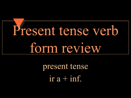 Present tense verb form review