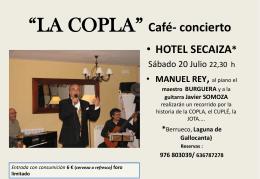 HISTORIAS DE LA COPLA Café