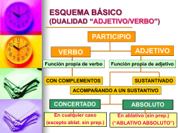 """ESQUEMA BÁSICO (DUALIDAD """"ADJETIVO/VERBO"""")"""