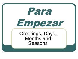 Para Empezar - SpanishAdell