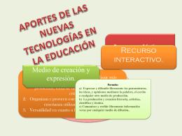 aportes de las nuevas tecnologías a la educación