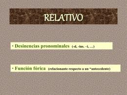 Relativo - IES Fuente de la Peña