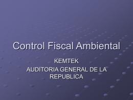Control Fiscal Ambiental - Auditoría General de la República