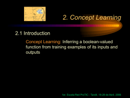 2. Concept Learning