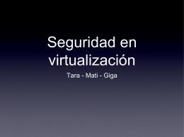 Seguridad en virtualización