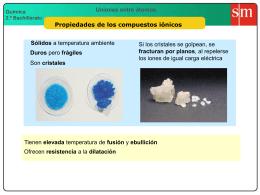 4 Propiedades de los compuestos iónicos