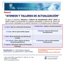 Diapositiva 1 - AANEP . Asociación Argentina de Nutrición Enteral y