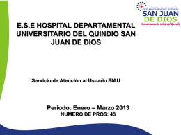 e.s.e hospital departamental universitario del quindio san juan de dios