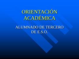 ORIENTACIÓN ACADÉMICA - losolivosorientacion