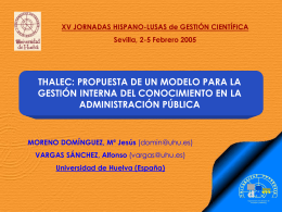 MODELO THALEC - Universidad de Huelva