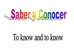 3- Saber,Conocer